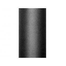Tiul gładki, czarny, 0,15 x 9m (1 szt. / 9 mb.)