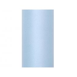 Tiul gładki, błękit, 0,15 x 9m (1 szt. / 9 mb.)