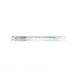 Tuba z konfetti, opalizujacy, 60cm