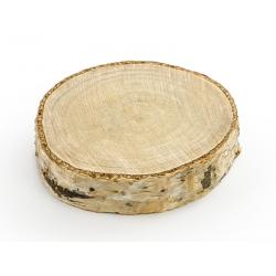 Drewniane wizytówki na stół, śr. 4,5-6,5cm (1 op. / 6 szt.)