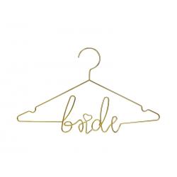 Metalowy wieszak Bride, złoty, 45x27cm