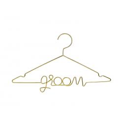 Metalowy wieszak Groom, złoty, 45x27cm