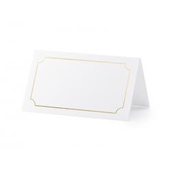 Wizytówki na stół - Ramka, złoty, 9,5x5,5cm (1 op. / 10 szt.)