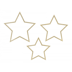 Zawieszki dekoracyjne Gwiazdy, mix (1 op. / 3 szt.)