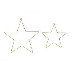 Metalowe zawieszki dekoracyjne Gwiazdy, mix (1 op. / 2 szt.)