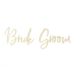 Zawieszki na krzesła - Bride Groom, naturalne drewno (1 op. / 2 szt.)