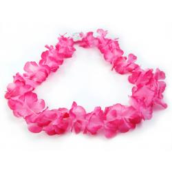 Naszyjnik hawajski, różowy, 1m