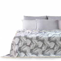BEDS/TROPICALLEAVES/FR/GREY+WHITE/260x280