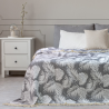 BEDS TROPICALLEAVES FR GREY+WHITE 220x240