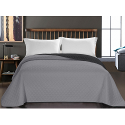 BEDS AXEL CHARCOAL+SILVER 260x280