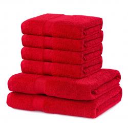 TOWEL MARINA D.RED SET2*70x140+4*50x100