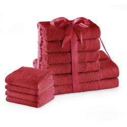 TOWEL AH AMARI D.RED SET2*70x140+4*50x100+4*30X50