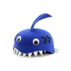 Czapka Rekin, niebieski