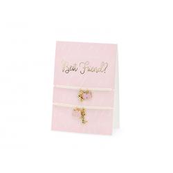 Kartka z bransoletkami Best Friends, 10.5x14.8cm