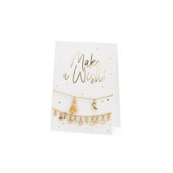 Kartka z bransoletkami Make a wish!, 10.5x14.8cm