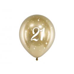 Balony Glossy 30cm, 21, złoty (1 op. / 6 szt.)