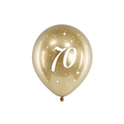 Balony Glossy 30cm, 70, złoty (1 op. / 6 szt.)
