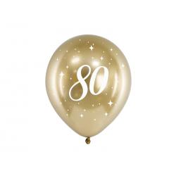 Balony Glossy 30cm, 80, złoty (1 op. / 6 szt.)