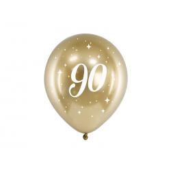 Balony Glossy 30cm, 90, złoty (1 op. / 6 szt.)