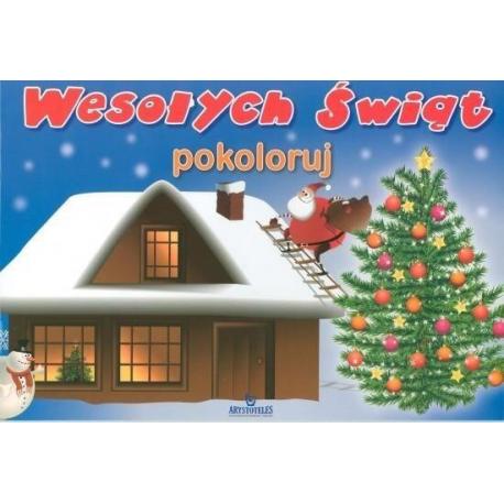 Image of ARYSTOTELES KOLOROWANKA WESOŁYCH ŚWIĄT - POKOLORUJ