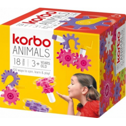 KORBO KLOCKI KONSTRUKCYJNE 1408 ANIMALS 18EL